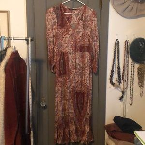 Zara print Peasant dress